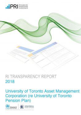 PRI Transparency Report Pension
