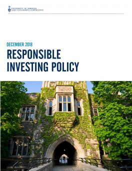 UTAM December 2018 Responsible Investing Policy
