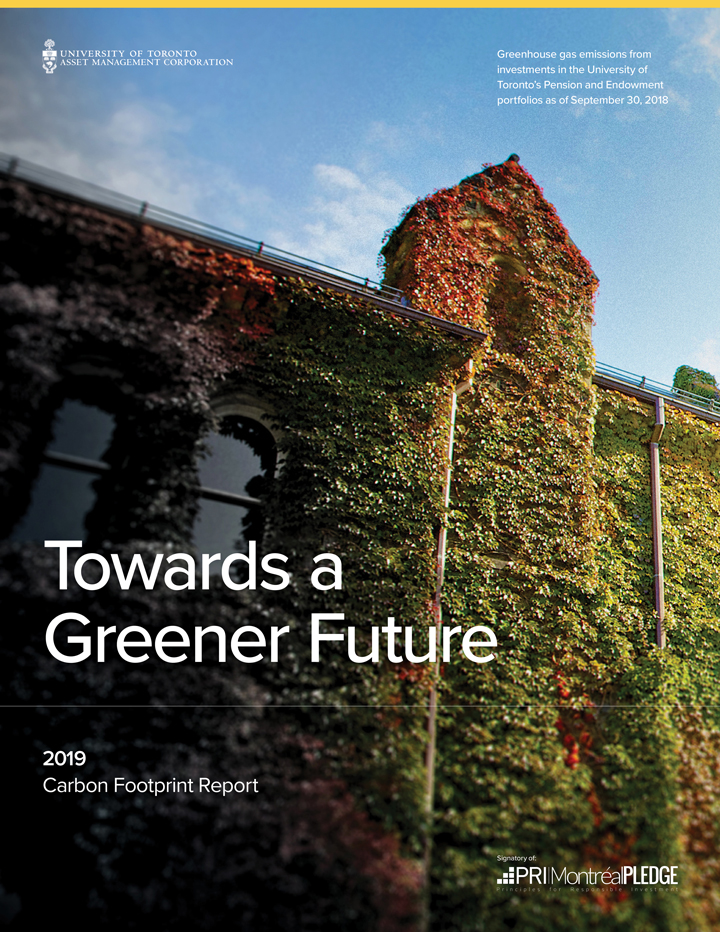 Cover of 2019 Carbon Footprint Report.