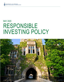 Cover of 2020 Responsible Investing Policy